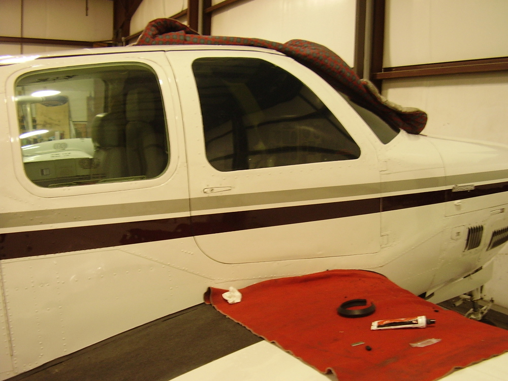 A36TC with it\u0027s new door seal installed & It Can Get A Little Drafty Up There   AVSTAR Aircraft of ... Pezcame.Com